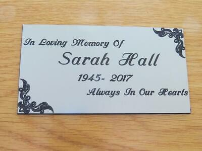LPT6 Personalised Engraved Memorial or Celebration Plaque Various Sizes.