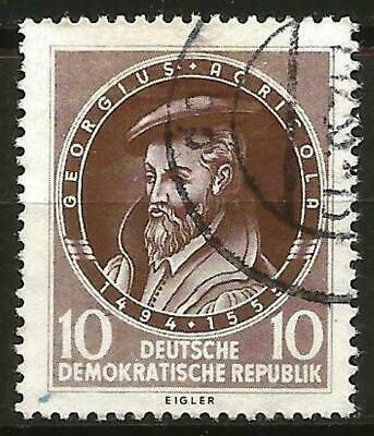 Germany (East) DDR GDR 1955 Used 40th Anniv. Death Georg Agricola Mi-497 SG E240