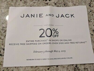 janie and jack coupon march 2019