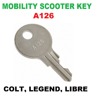Mobility Scooter Ignition Key A126 For Colt, Legend, Libre, Apex, Classic