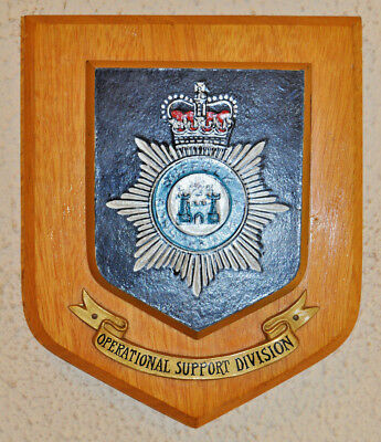 Suffolk Constabulary Operational Support Division plaque shield Police