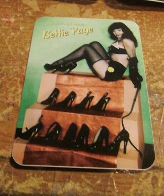 Bettie Page Sticker Collectible Vintage 1999 Window Decal  Burlesque Girl