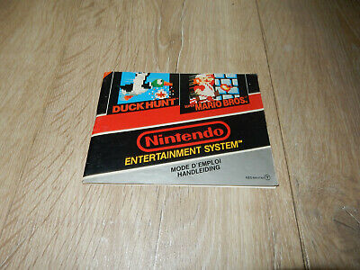 PAL NES: Duck Hunt / Mario Bros. Manual NO GAME Nintendo System