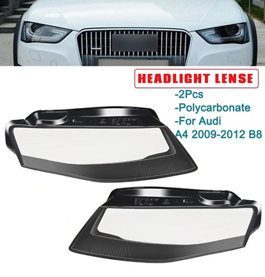 Audi A4 09-12 B8 Headlight outside lens covers, pair right and left