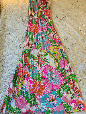14dc505a7954 Lilly Pulitzer For Target Nwt Medium Nosey Posey Maxi Dress Strapless Floral