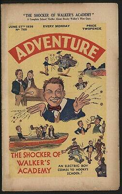 Adventure 765. Classic Boys' Paper Issue From Significant Collecton