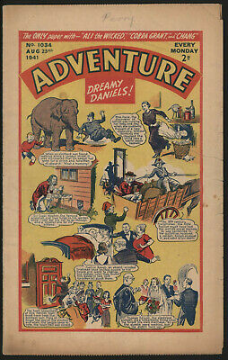 Adventure 1034. Classic Boys' Paper Issue From Significant Collecton