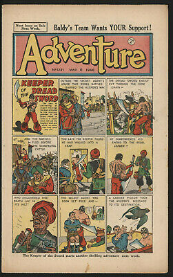 Adventure 1221. Classic Boys' Paper Issue From Significant Collecton