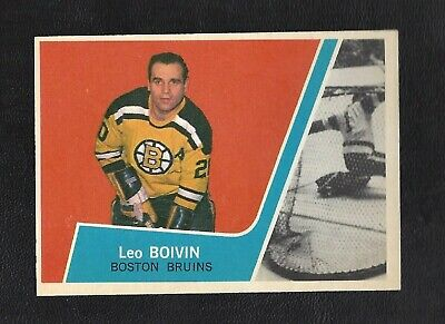 1963 Topps # 5 Leo Boivin HOF Vintage Boston Bruins NHL Hockey 1963-64