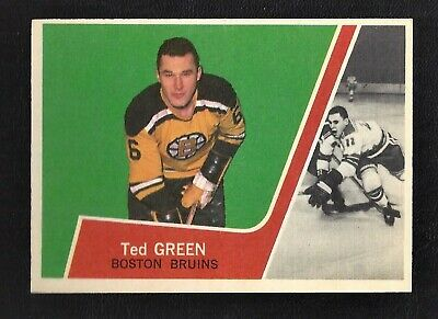 1963 Topps #7 Ted Green Vintage Boston Bruins NHL Hockey 1963-64