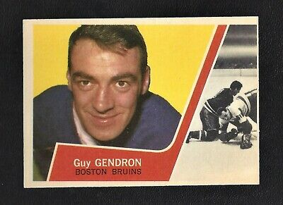 1963 Topps #16 Guy Gendron Vintage Boston Bruins NHL Hockey 1963-64