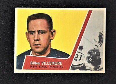 1963 Topps #46 Gilles Villemure RC Vintage New York Rangers NHL Hockey 1963-64