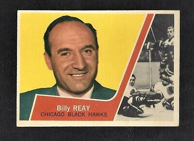 1963 Topps #22 Billy Reay Vintage Chicago Black Hawks NHL Hockey 1963-64