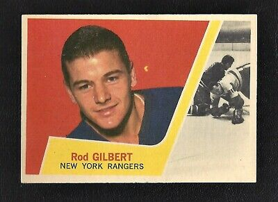 1963 Topps #57 Rod Gilbert HOF Vintage New York Rangers NHL Hockey 1963-64