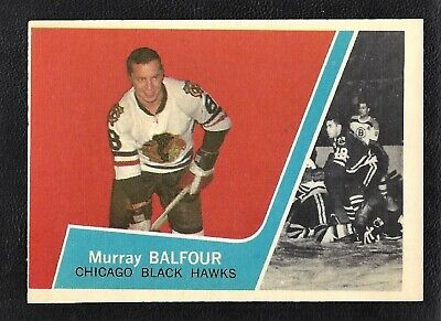 1963 Topps #35 Murray Balfour Vintage Chicago Black Hawks NHL Hockey 1963-64