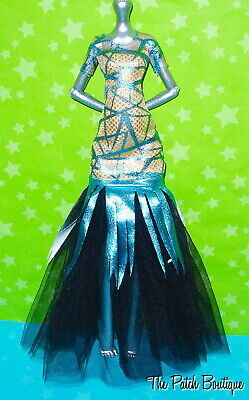 Monster High Ghouls Rule Cleo De Nile Doll Outfit Replacement Tulle Dress Gown