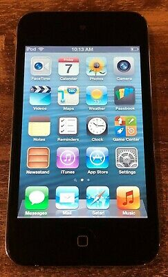 """Apple iPod Touch 4th Gen 8GB 3.5"""" Touchscreen Wi-Fi Digital Music/Video Player"""
