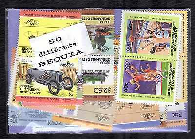 Bequia 50 timbres différents