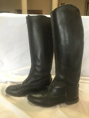 2cf84770c2697 WOMAN'S EFFINGHAM BOND Boot Co Black Leather Equestrian Riding Boots ...