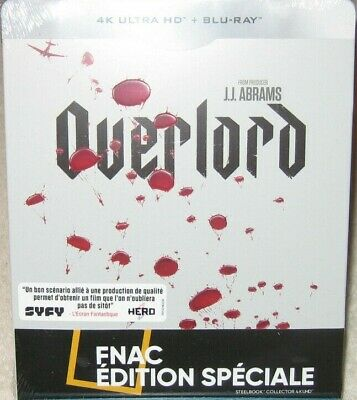 OVERLORD Steelbook Blu Ray 4K + Blu Ray Edition FNAC NEUF SOUS BLISTER
