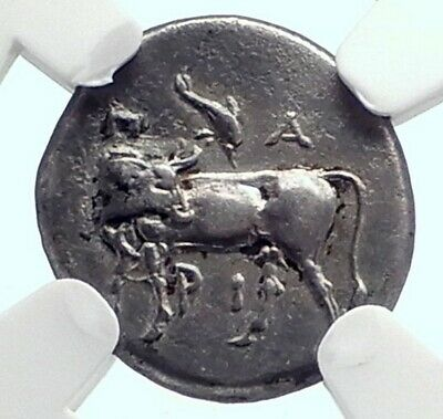 PARION Parium in MYSIA 350BC Authentic Ancient Silver Greek Coin NGC i77245