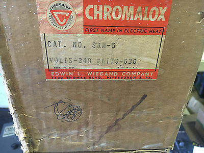 Chromalox Skm-6 New Old Stock 240V 630 Watt Heater See Pictures Shelf C6