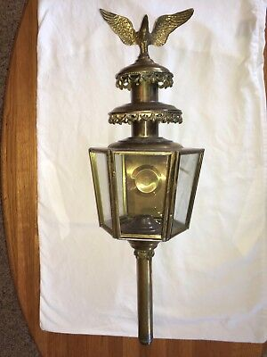Antique Brass Carriage, Wall, Oil or Gas Lamp, Sconce included
