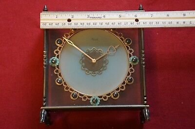 Kienzle 8 day transparent mantel clock 15 jewels mystery frosted dial Bauhaus