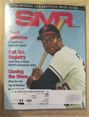 SMR Sports Market Report PSA/DNA Guide Magazine #297 Frank Robinson April 2019