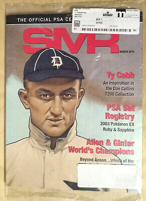 SMR Sports Market Report PSA/DNA Guide Magazine #296 Ty Cobb March 2019