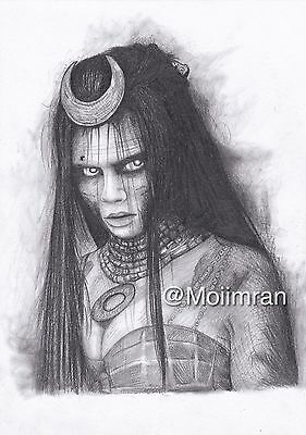 Drawing of Enchantress From Suicide Squad - Graphite Pencil Sketch Fan Art work