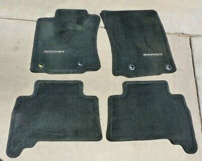 OEM Toyota 4Runner 2012-2016 4 Piece Black Floor Mat Set Front & Rear PT208
