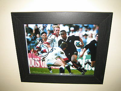 Jonah Lomu - New Zealand Rugby Union Player Signed Photo Print (8x10) Framed