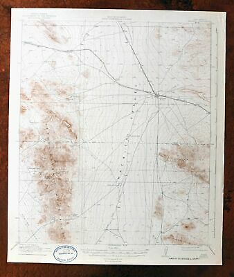 Hachita New Mexico Vintage USGS Topographic Map 1918 Little Hatchet Mountains