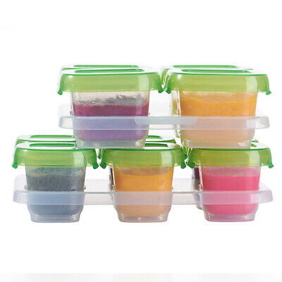 Food Storage Dispenser Container Baby Block Stackable Refrigeration Portable
