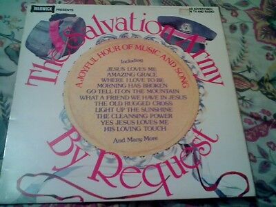 The Salvation Army By Request A Joyful Hour Of Music And Song Vinyl Lp Excellent