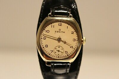 "Art Deco Trench Rare Beautiful Brass Case Swiss Ladies Watch ""Zenith"""