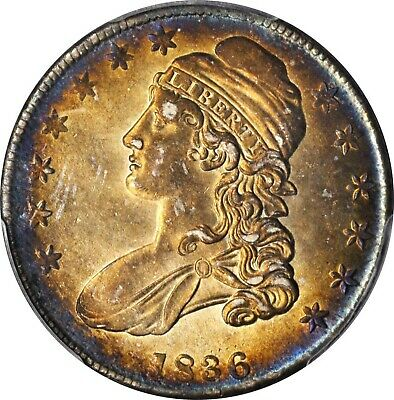 1836 Capped Bust Half Dollar Lettered Edge O-123 Rarity-4 AU-58 (PCGS) Rare Coin
