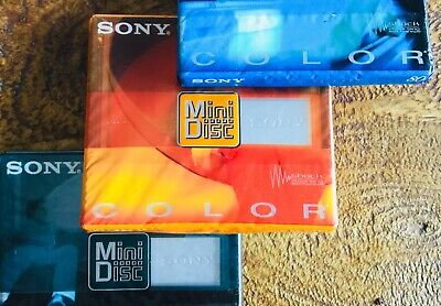 Sony Color Mix 80 Minutes Recordable MD Minidisc **Free Shipping Same Day**