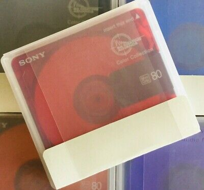 One Sony Color Mix 80 Minutes Recordable MD Minidisc **Free Shipping Same Day**