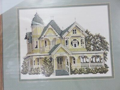 Victorians Across America DONNELLY HOUSE Cross Stitch Pattern Chart + Linen NEW