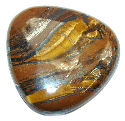 Natural Amazing golden brown tigers's eye 75.5ct loose stone from SilverRush Sty