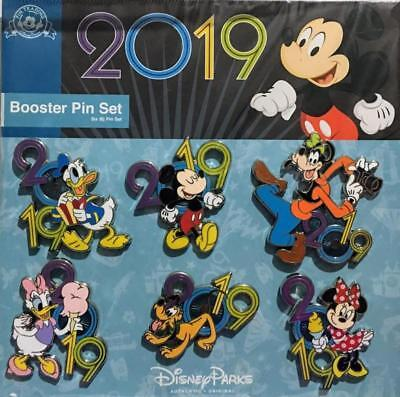 New Disney Parks 2019 Mickey And Friends 6 Pin Booster Set