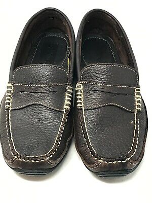 28c5019b277 LL BEAN Allagash Bison Leather Driving Moccasin Shoes Men s Size 8 EE 287219