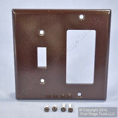 Leviton Brown Decora GFCI Switch Cover Receptacle Wall Plate Switchplate 80405