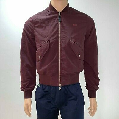 Mens Xs Jacket Live Checkers Size Bordeaux Bomber Lacoste Reversible bfYv76gyI
