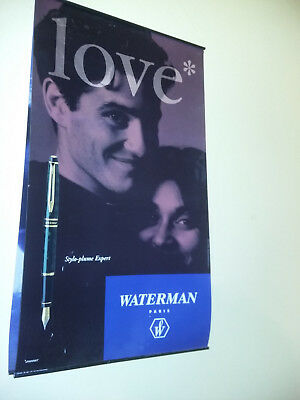 lot 2 Affiches posters publicitaires - stylos WATERMAN - LOVE AMOUR - Hemisphere