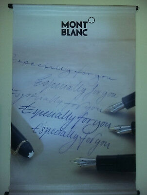 "Affiche KAKEMONO poster publicitaire - stylos MONT-BLANC -"" Especially for you """