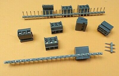 Terminal Block 3 Way Plugable Pin Header & Wire Socket  x 8pcs of each pc Offers