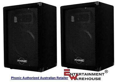 "Phonic SEM710  Pair Passive Speakers  160watt, 10"", 2way Stage Monitor"